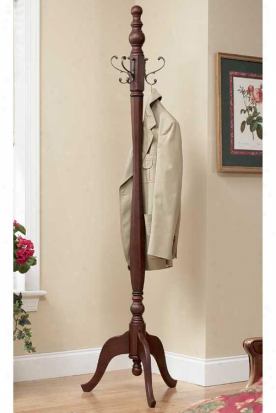 """english Country Coat Rack - 71.25""""hx18""""w, Brown"""