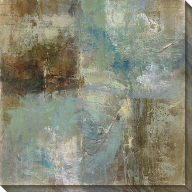 Environment Abstracr Iii Wall Art - Iii, Blue