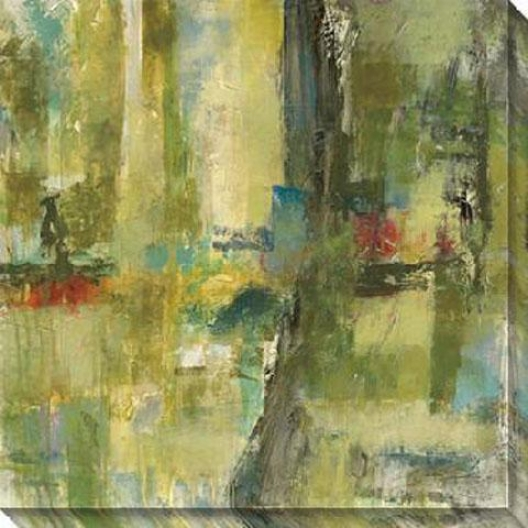 Equivalence I Canvas Wall Art - I, Green