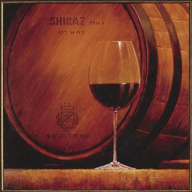 State Wine Wall Art - Shiraz, Red