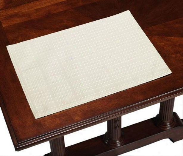 Evolution Placemats - Set Of 4 - Set Of 4, Ivory