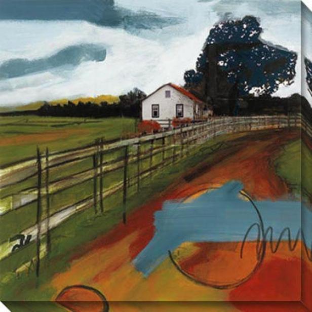 Farmhouse I Canvas Wall Art - I, Green