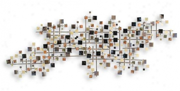 Sky Wall Sculpture - 51hx20wx4d, Multi
