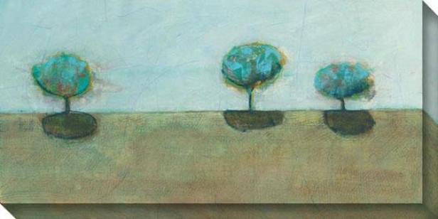 """""""fjord Canvas Wall Art - 48""""""""hx24""""""""w, Blue"""""""