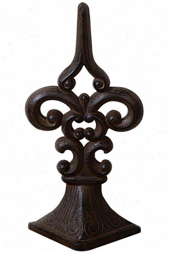 Fleru De Lis Door Stopper - 7x3.5, Bronze