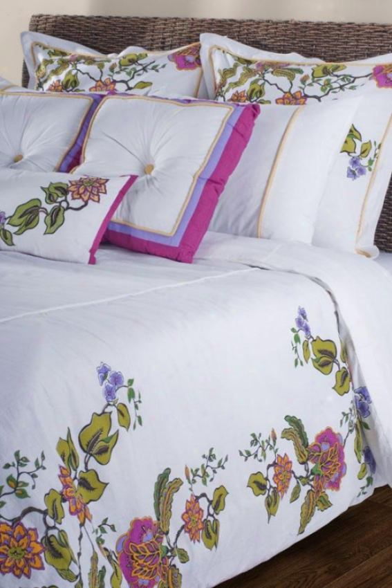 Flora Bedding Set - Full, White/floral