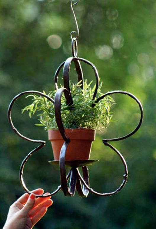 """flora Taper Pot Holder - 21""""hx13.75""""d, Bronze"""