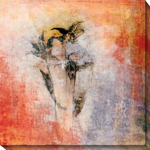Floral Impression Ii Cznvas Wall Art - Ii, Orange