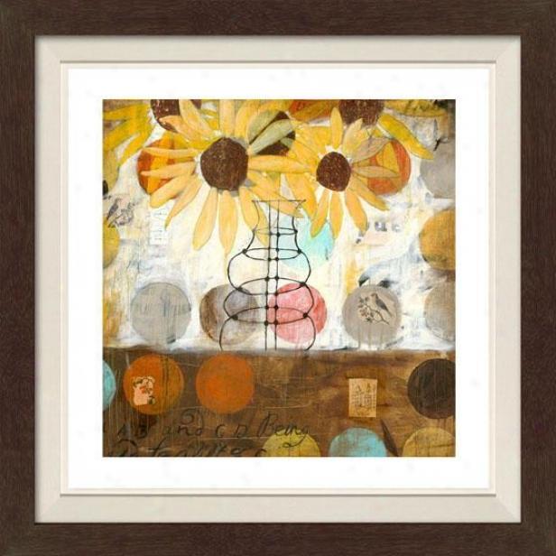 Flowerx And Circles Setting I Framed Wall Art - I, Fltd Espresso