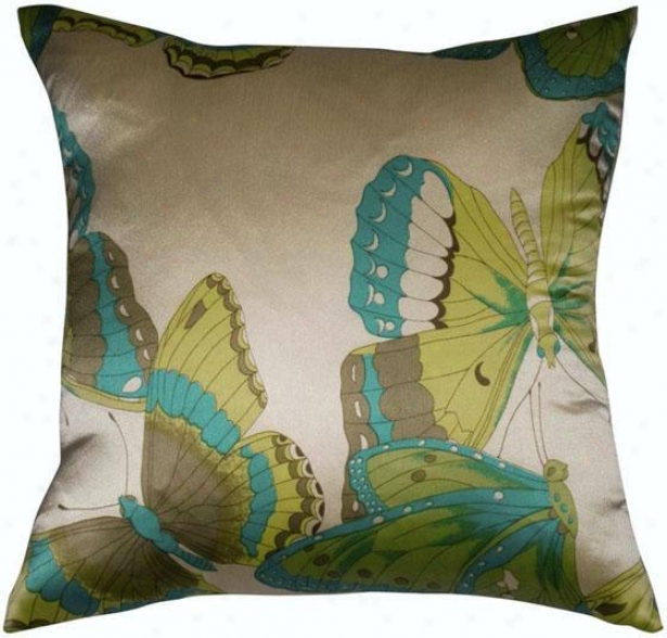 """flutter Pillow - 18""""x18"""", Cream"""