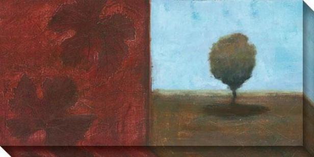 Foliage Suitr I Canvas Wall Art - I, Red
