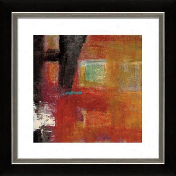 Four Squares I Framed Wall Art - ,I Mtt Black/slvr