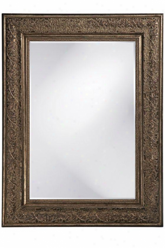 """freeman Mirror - 45""""hx34""""wx2""""d, Ant Slvr/bronze"""
