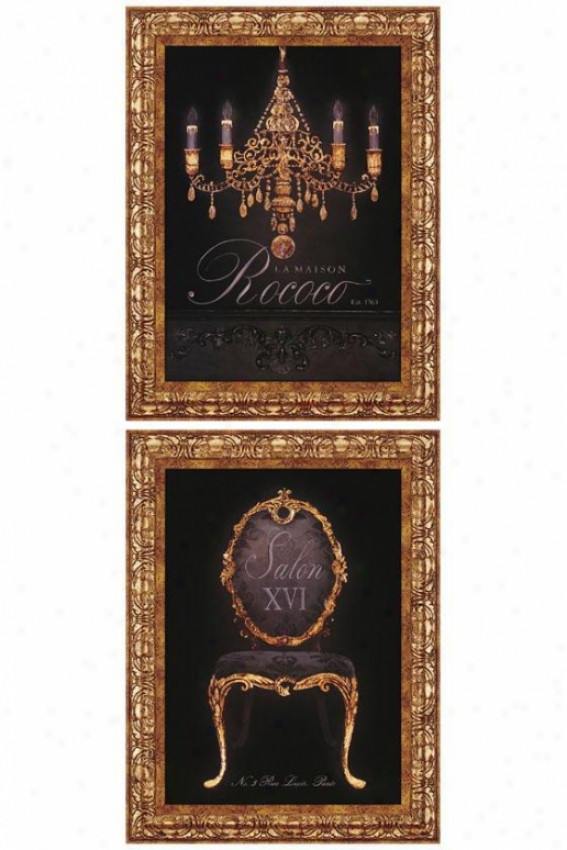 French Elements I Wall Art - Set Of 2 - Set Of 2, Black