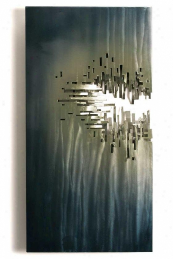From The Depths Wall Sculpture - 19hx36wx3d, Multi