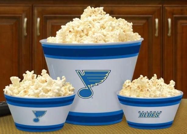 Gameday Nhl Popcorn Bowls - Nhl Teams, St Louis Blues