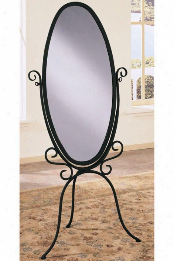 """garden District Scropl Cheval Mirror - 60.25""""hx27""""w, Black"""