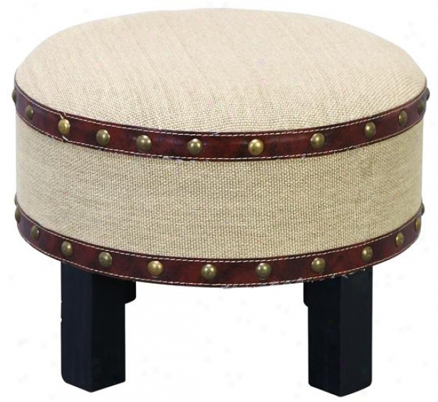 """gavib Ottoman Stool - 12""""hx16""""diametr, Canvas"""
