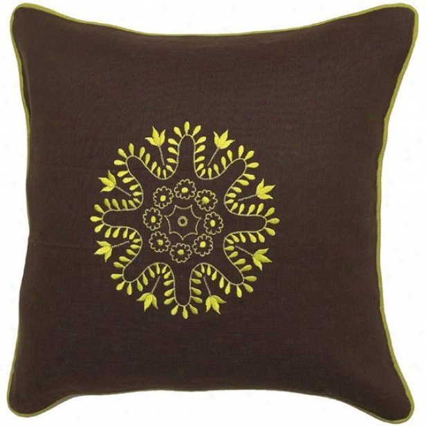 """geomatriex Pillows - Set Of 2 - 18""""x18"""", Chocolate Bronw"""