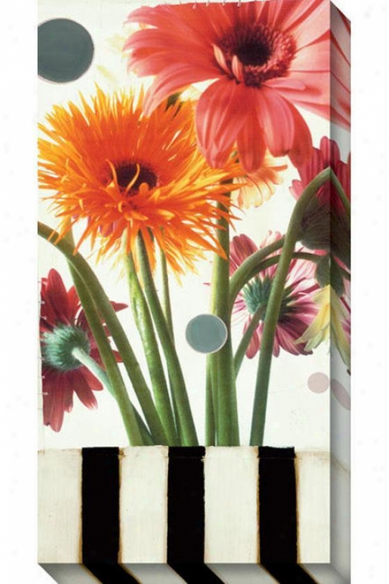 Gerber Daisies I Canvas Wall Art - I, White