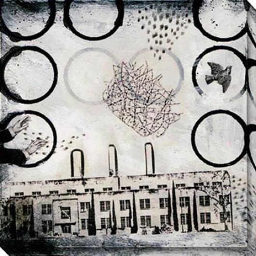 Ghost City I Canvas Wall Art - I, Black