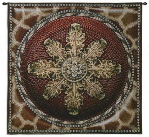 """""""giraffe With Roaette Tapestry - 44""""""""hx44""""""""w, Brown"""""""