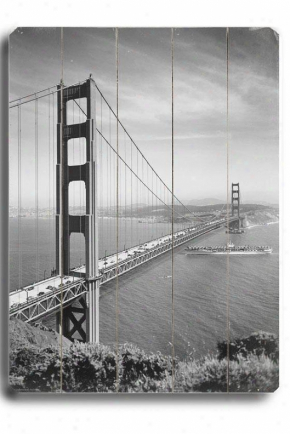 """golden Gate Wooden Sigm - 20""""h X 14""""w, Black"""