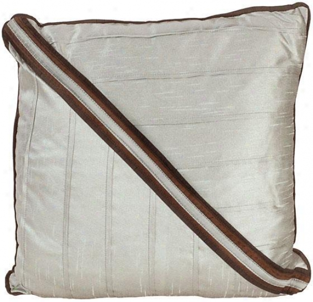 """grace Pillow - 18"""" Square, Chocolate Brown"""