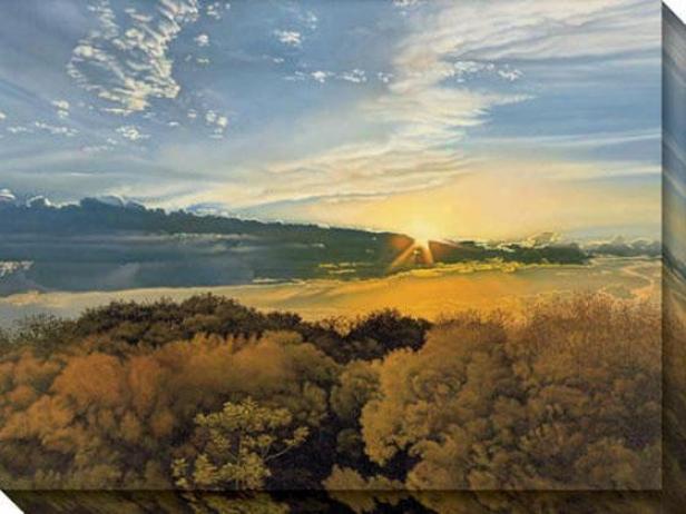 """""""buanajuato Sun Canvas Wall Art - 48""""""""hx36""""""""w, Beige"""""""
