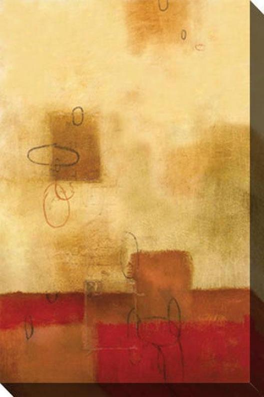 Guarded Iii Canvas Wall Art - Iii, Gold
