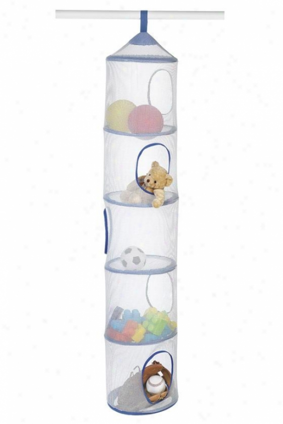 """hanging Stor-all Organizer - 60""""hx11""""wx11""""d, Blue"""