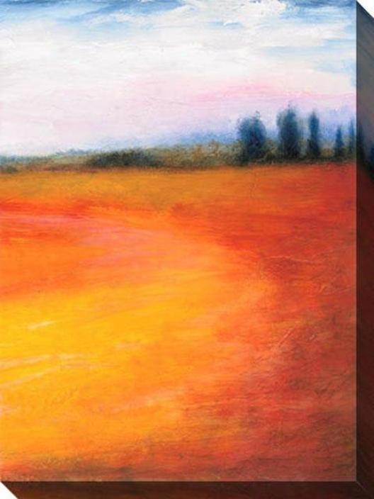 Joyous Days Iii Canvas Wall Art - Iii, Orange