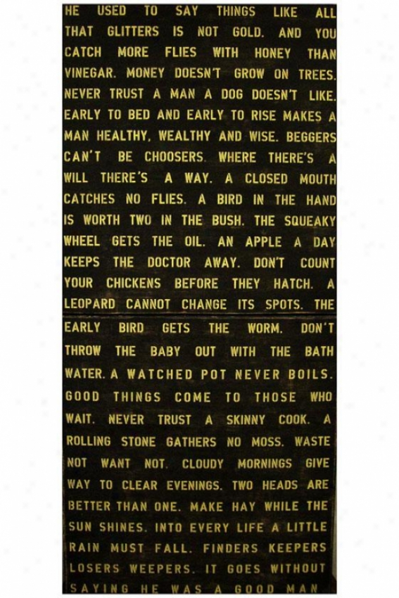 """he Used To Say Things Wooden Sign - Set Of 2 - 20 X 44"""", Black"""
