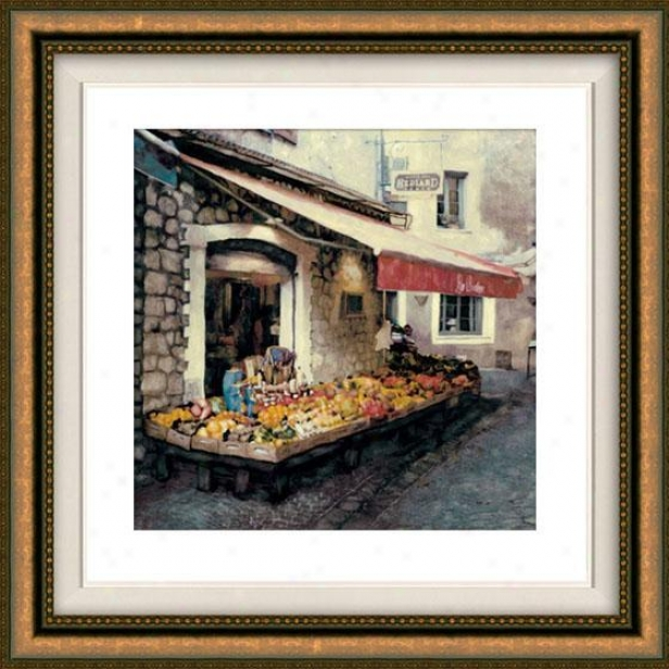 """hediard Framed Wall Art - 32""""hx32""""w, Floated Gold"""