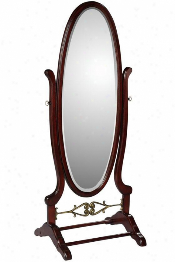 """heirloom Cheval Mirror - 63""""hx25.25""""w, Brick Red"""