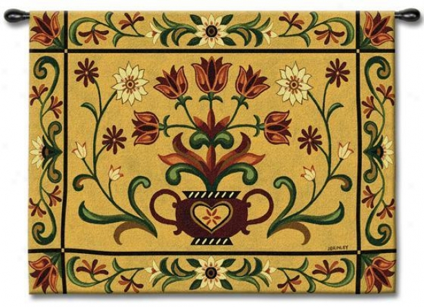 """heritage Floral Tapestry - 40""""hx53""""w, Multi"""