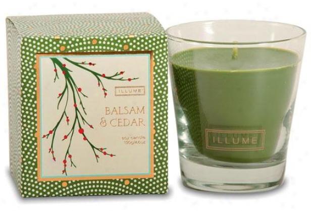 Holiday Demi-glass Candle - Demiglass Cndl, Balsam & Crdar