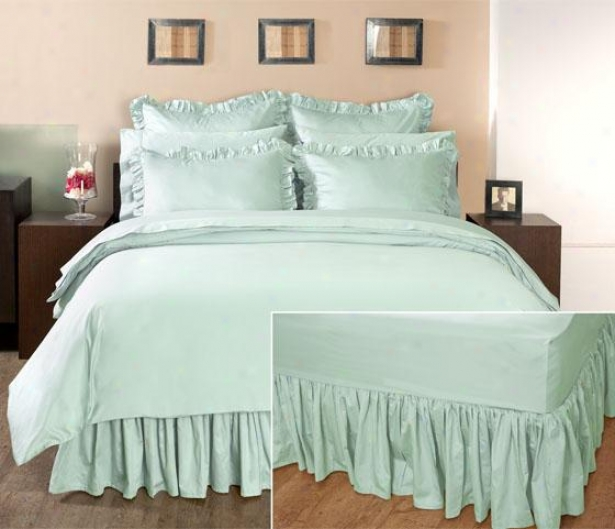 Home Decorators Collection Ruffled Bedskirt - Queen, Watery