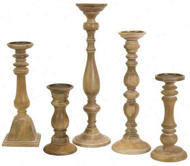 Chase Candleholders - Set Of 5 - Set Of 5, Ivory