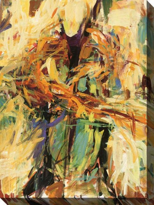 In Concert Ii Canvas Wall Art - Ii, Yellow