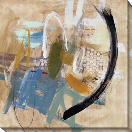 Incredible Fade Ii Canvas Wall Art - Ii, Beige