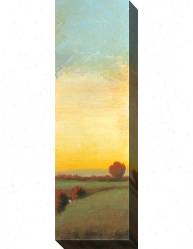 Indian Summer Iii Canvas Wall Art - Iii, Yellow