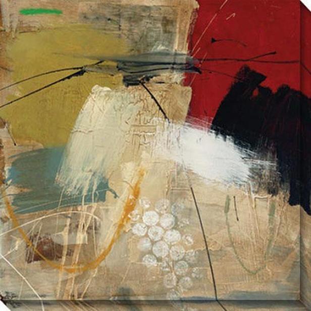 Into The Storm Ii Canvas Wall Art - Ii, Beige