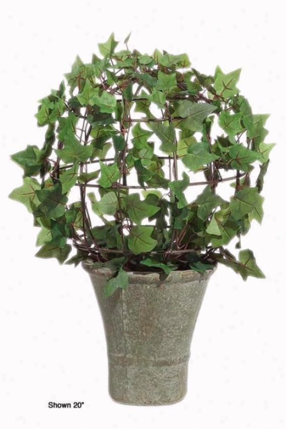 """ivy Bush Topiary - 30""""h, Ceramic-like Bs"""