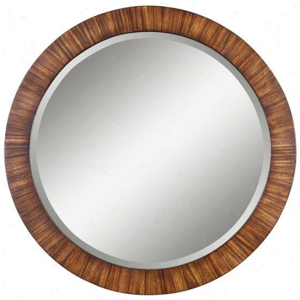 """""""jules Mirror - 36""""""""dia, Antique Zebrano"""""""