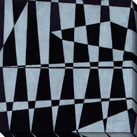 Juxtapose I aCnvas Wall Art - I, Black