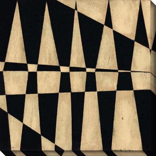 Juxtapose Iv Canvas Wall Art - Iv, Black