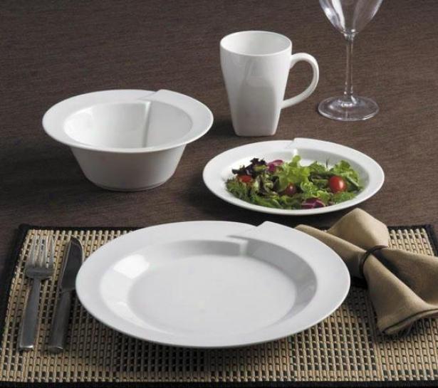 Kismet 16-piece Dinnerware Set - 16 Piecce Set, White
