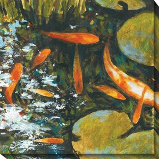 Koi Ii Canvas Wall Art - Ii, Orange