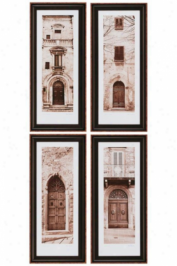 La Porta Wall Art - Set Of 4 - Set Of 4, Black